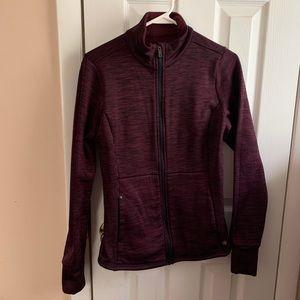 Trek gear, red and black jacket